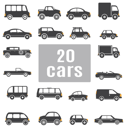 Cars  Set icons for you design Vector