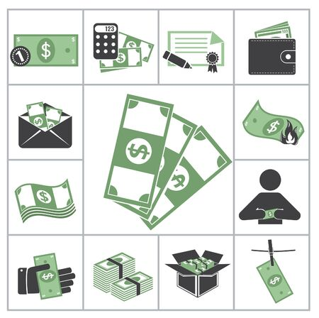 Money  Green set for you design Vector