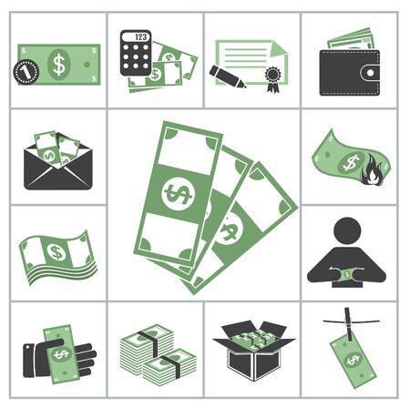 lucky sign: Money  Green set for you design