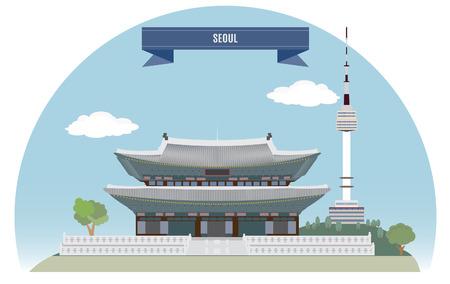 Seúl, Corea para que el diseño Foto de archivo - 23207303