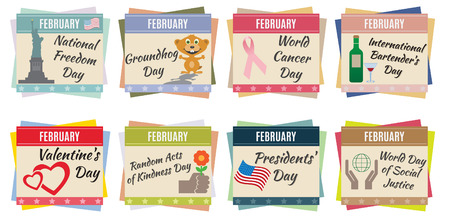 annual events: World holidays  February  For you design