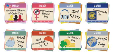 cronologia: Días de fiesta de la Marcha Mundial para que el diseño