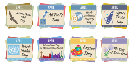 months of the year: World holidays  April  For you design