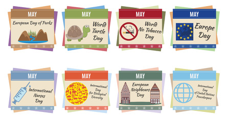 World holidays  May  For you design Stock Vector - 23659911