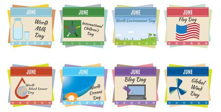 World holidays  June  For you design