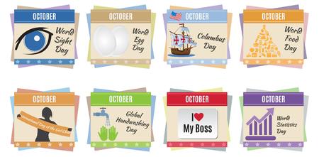 event planning: World holidays  October  For you design