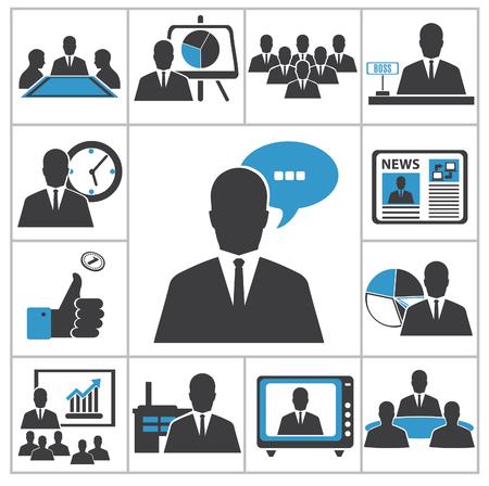 administrador de empresas: Vector iconos de negocios para el diseño de usted
