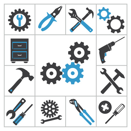 heavy machinery: Tools icons  Vector set for you design