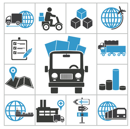 mode: Logistic icons  Vector set for you design Illustration