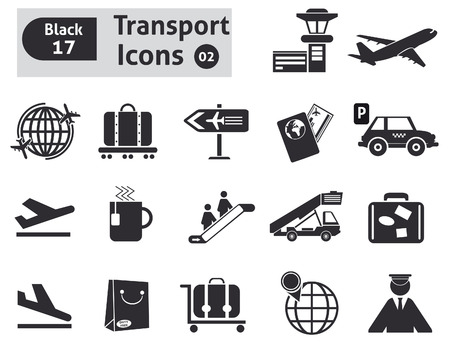 Transport icons  Vector set for you design Vector
