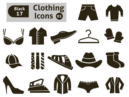 button icons: Clothing icons  Vector set for you design