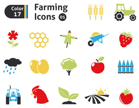 food industry: Farming icons set Illustration