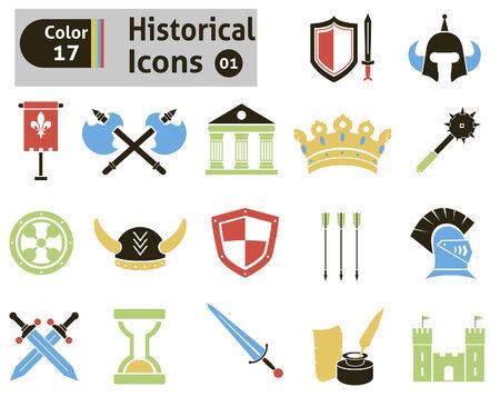 halberd: Historical icons set