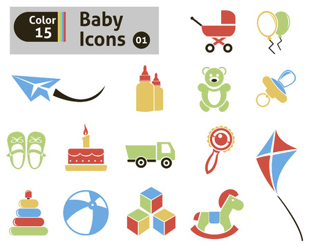 Baby icons  Vector set for you design Vector