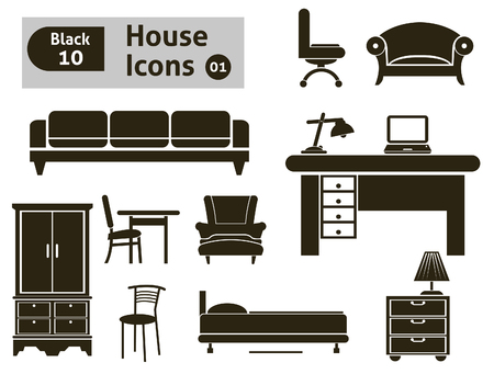 couches: House icons  Vector set for you design