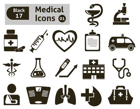 hospital symbol: Medical icons  Vector set for you design Illustration