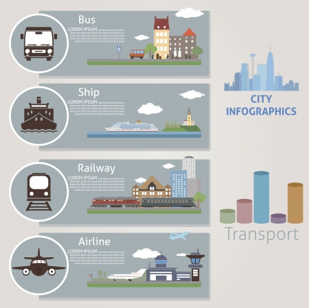 airplane cartoon: City  Transport  Vector for you design