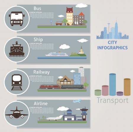 City Transport vector para diseñar Foto de archivo - 25236567