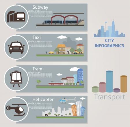 transportation cartoon: City  Transport  Vector for you design