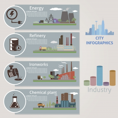 City  Industry  Vector for you design