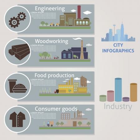 City Industrie Vektor für Sie entwerfen
