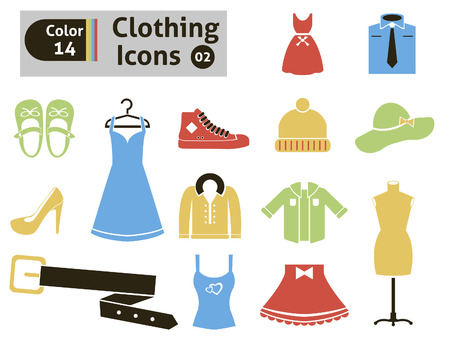long socks: Clothing icons  Vector set for you design