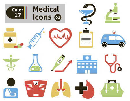 Medical icons  Vector set for you design Vector