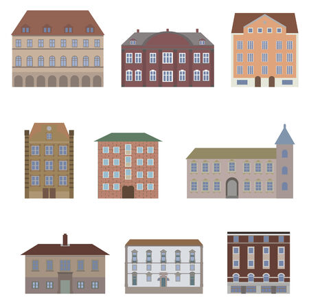 row of houses: Houses  Vector set for you design Illustration