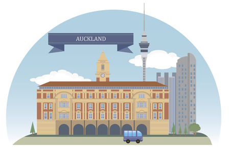 Auckland  New Zealand  Vector for you design Vector