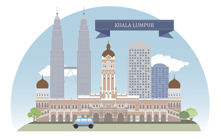 historical building: Kuala Lumpur, Malaysia  Vector for you design