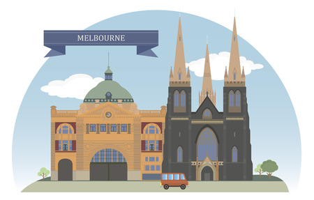 melbourne australia: Melbourne, Australia  Vector for you design
