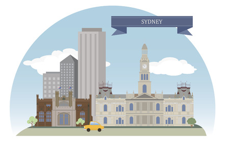sydney australia: Sydney, Australia  For you design Illustration