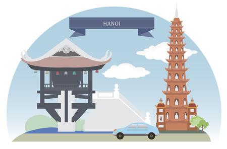 Hanoi, Vietnam  For you design Vector