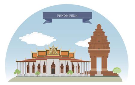 Phnom Penh, Cambodia  For you design Vettoriali