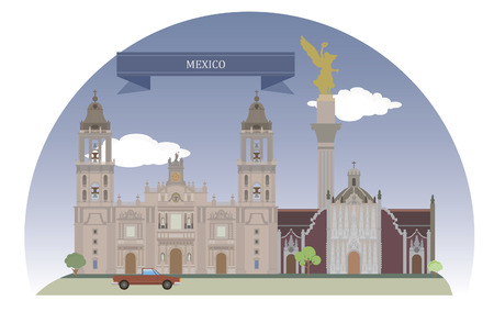 historical building: Mexico City, Mexico  For you design Illustration
