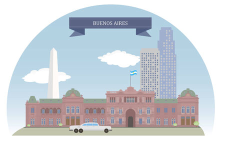 aires: Buenos Aires, Argentina Illustration