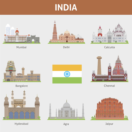 Cities of India  イラスト・ベクター素材