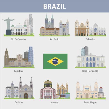 Brazil  Symbols of cities