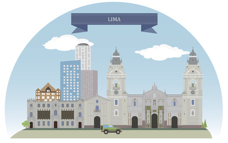 lima: Lima, Peru Illustration