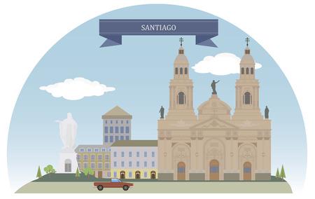 santiago: Santiago, Chile Illustration