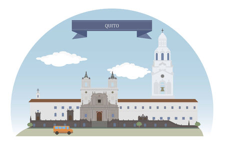 Quito, Ecuador Vektorové ilustrace