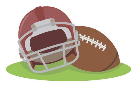 american football helmet: American football  Helmet and ball