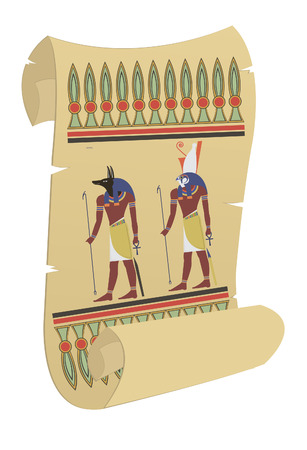 egypt anubis: Papyrus  For you design Illustration