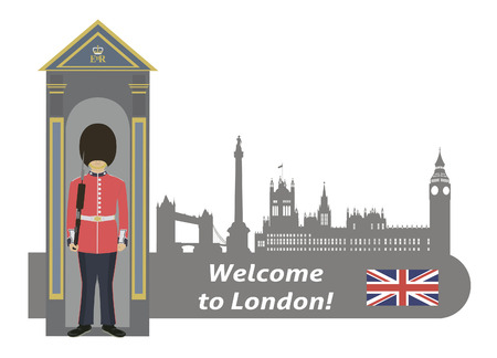 British Royal Guard  Welcome to London  Vector