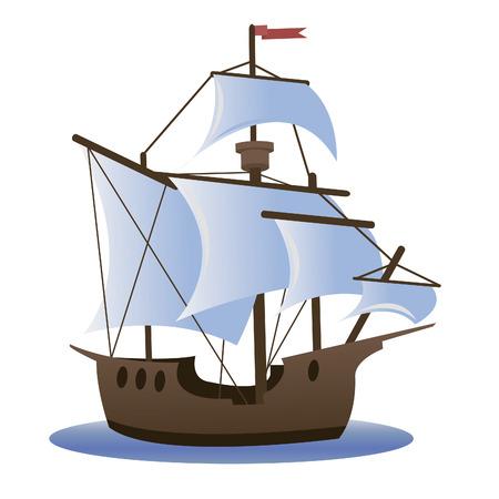 Caravel  Sailing ship Vector
