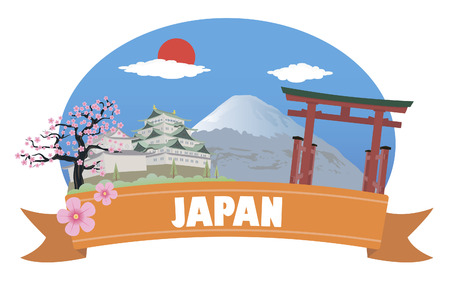 Japan  Tourism and travel Vector