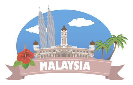 malaysia: Malaysia  Tourism and travel Illustration