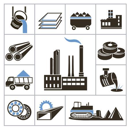 siderurgia: Iconos de la industria pesada para usted diseño