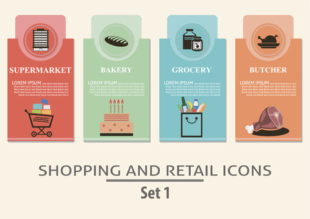 Shopping and retail  labels  Set for you design Vector