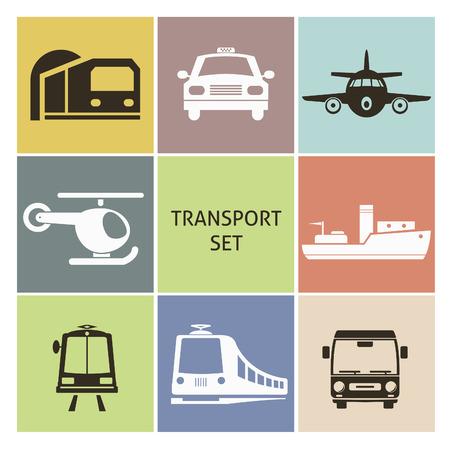 black cab: Transport icons. Set for you design Illustration